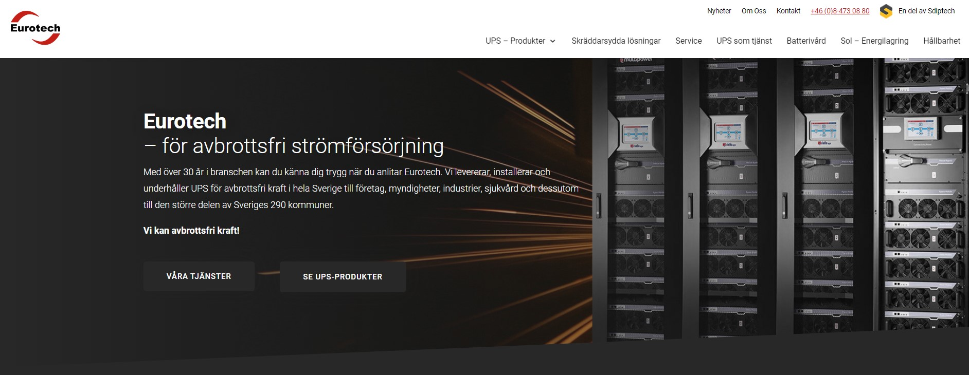Eurotechs nya hemsida